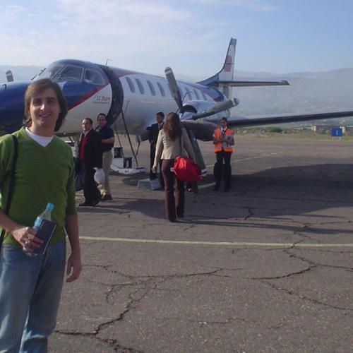Pablo Rodríguez, nunha das súas viaxes por Latinoamérica