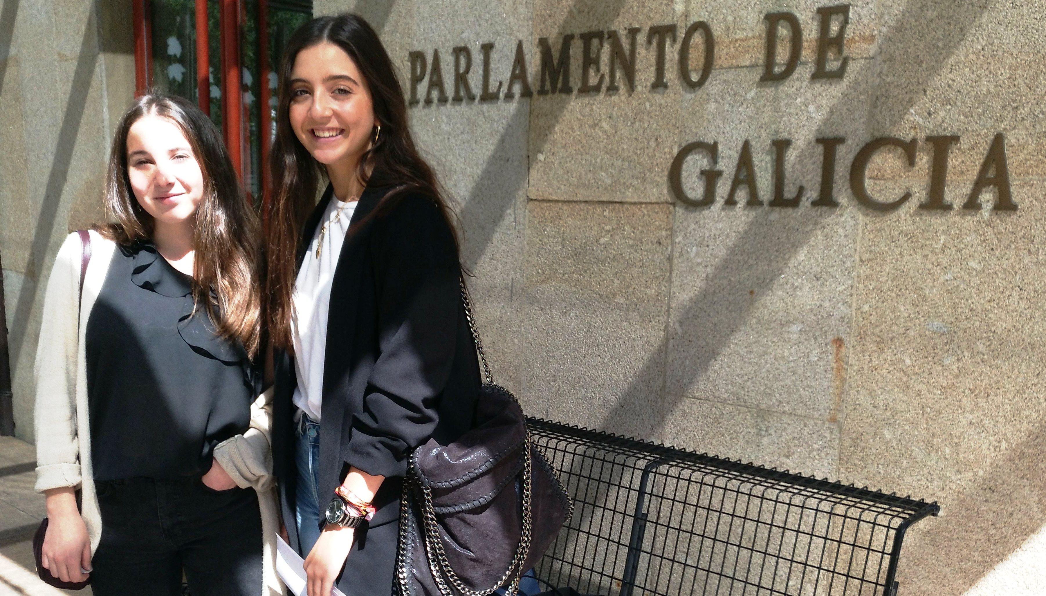 A voz das nosas alumnas chega ao Parlamento de Galicia
