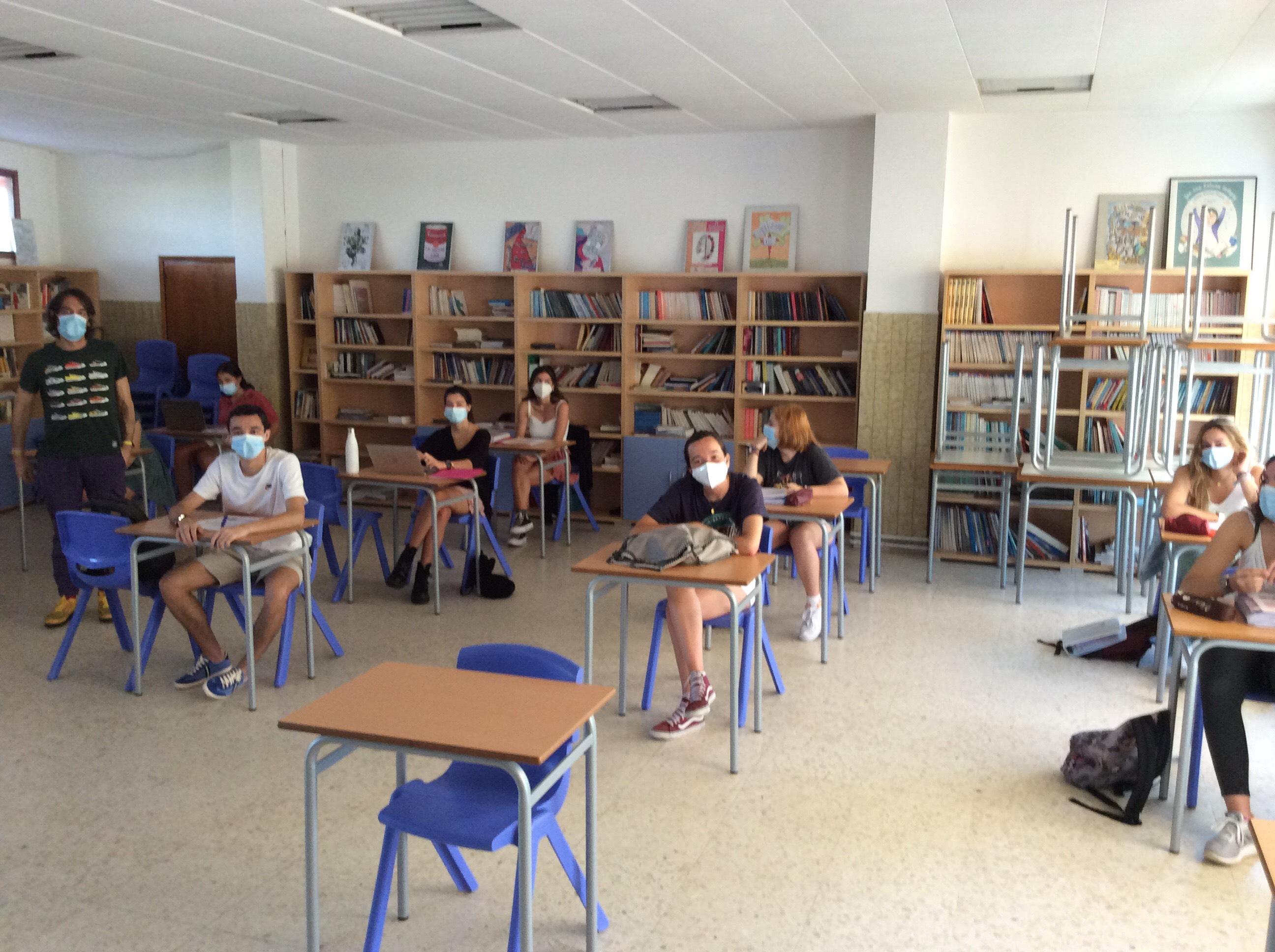 As clases de 2º de Bacharelato volven á actividade con 48 alumnos e alumnas