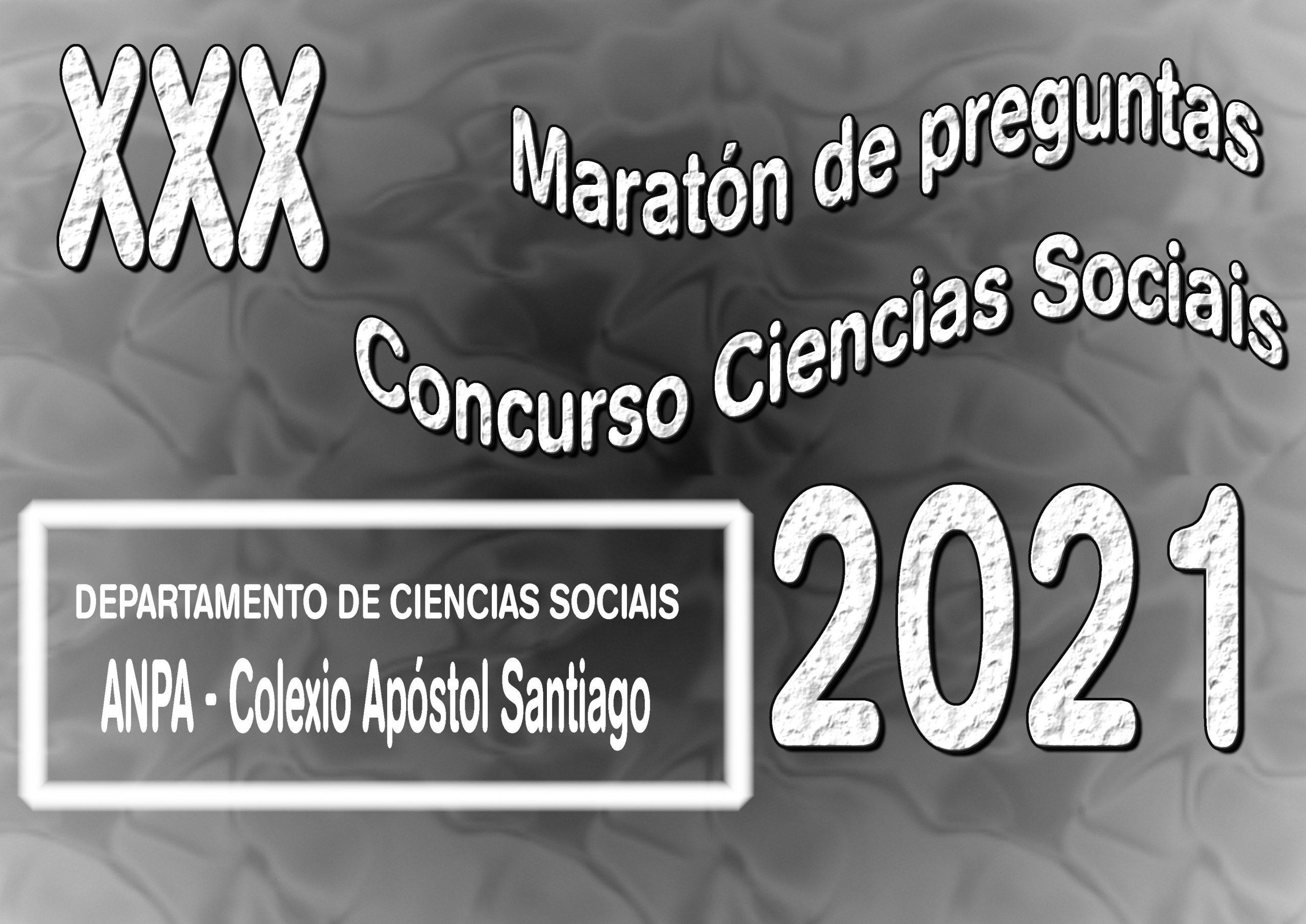 XXX Concurso de Ciencias Sociais-Maratón de Preguntas, curso 20-21