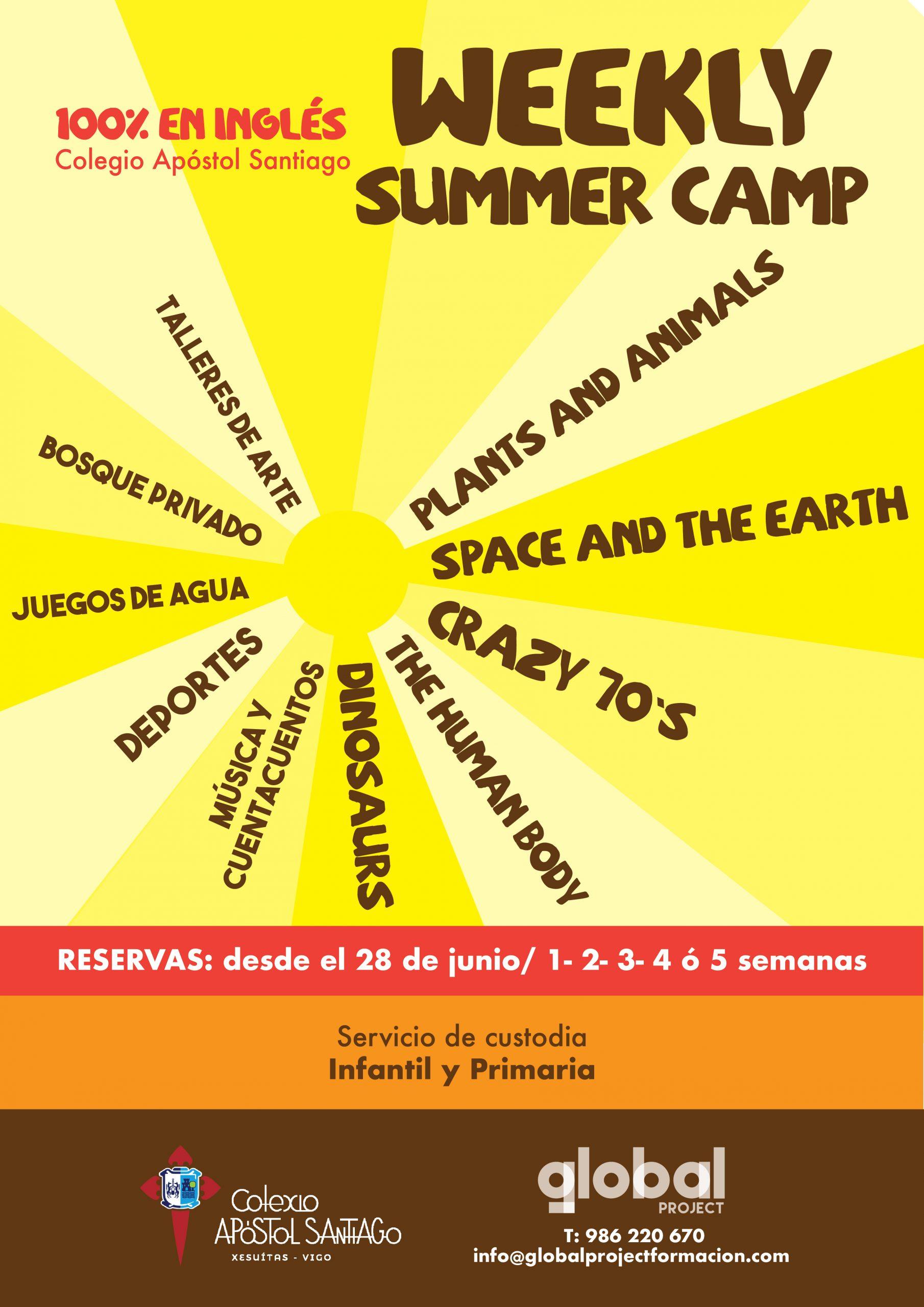 Este verán teremos campamentos en inglés