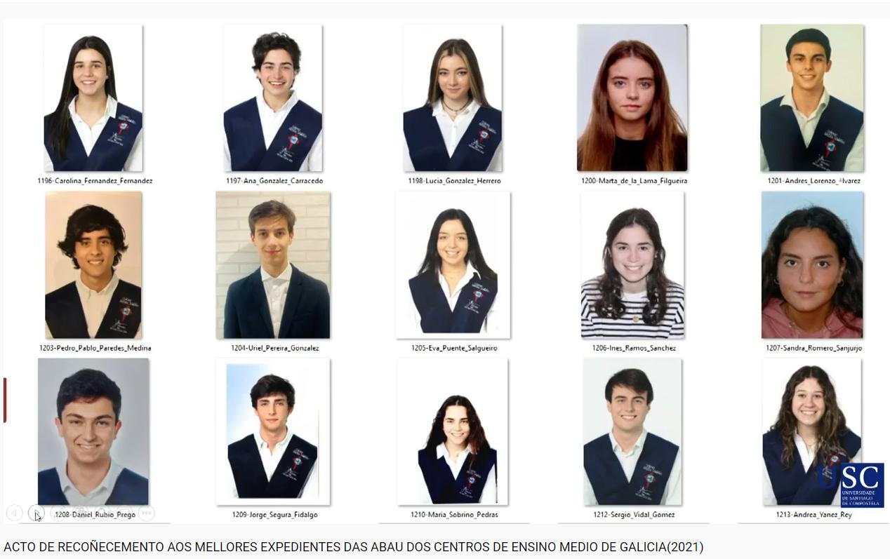 A USC recoñece a 24 alumnos/as do Apóstol polo seu expediente en Bacharelato